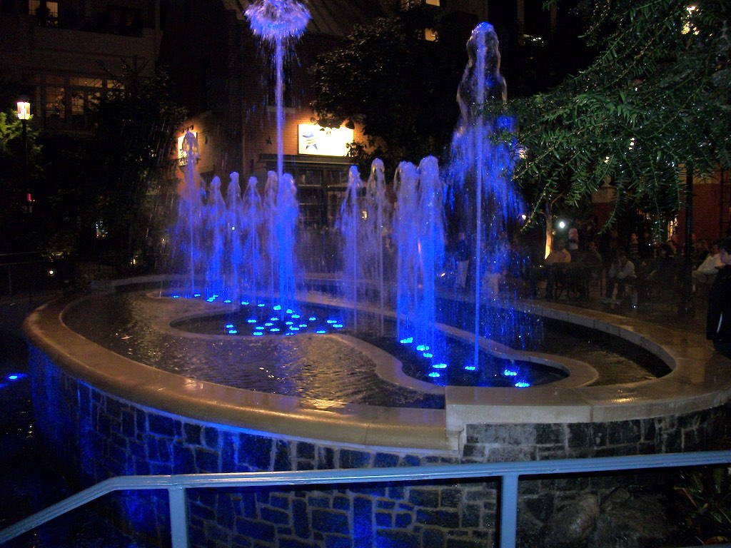 National Harbor, Fort Washington, Maryland USA - Fountain at Gaylord Hotel