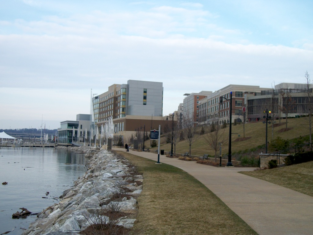 National Harbor, Fort Washington Maryland USA - Waterfront