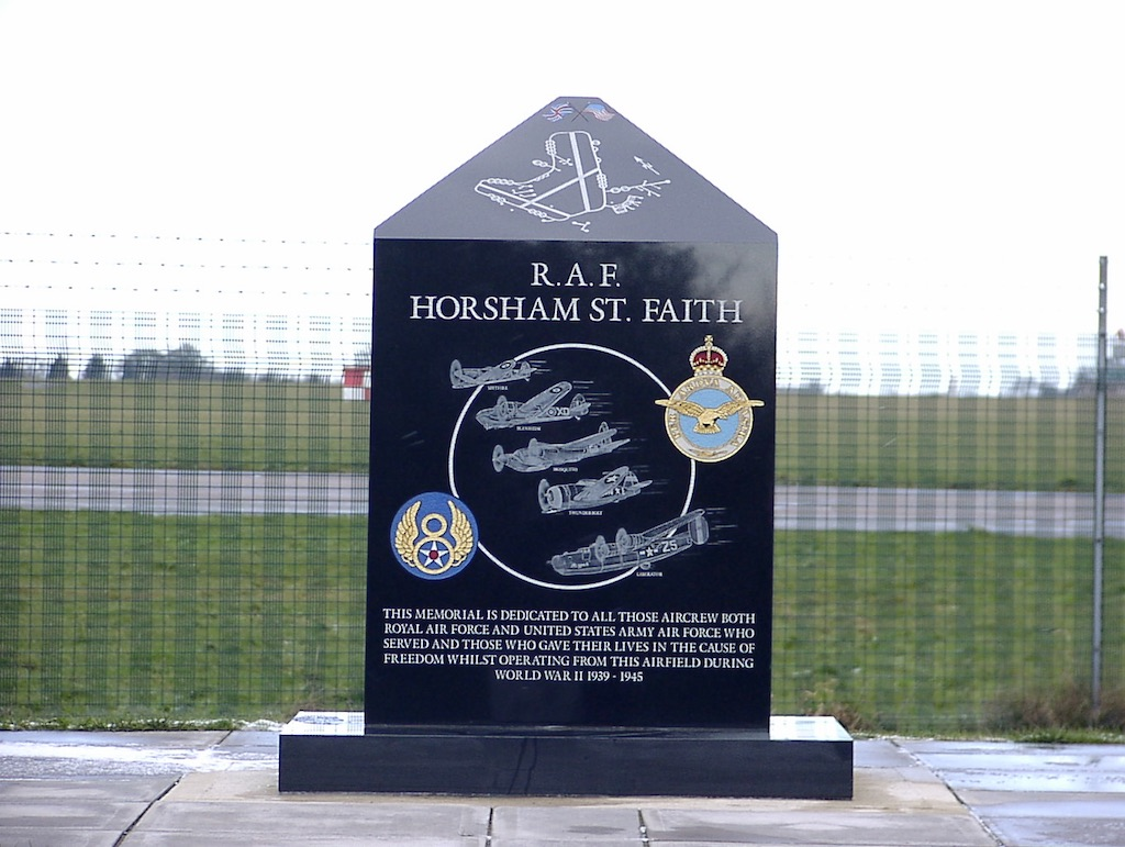 Norwich, United Kingdom - Norwich Airport - R.A.F. Horsham Faith Monument
