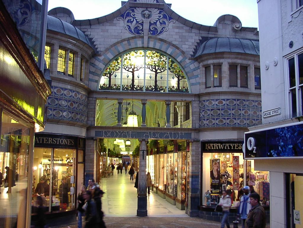 Norwich, United Kingdom - The Royal Arcade