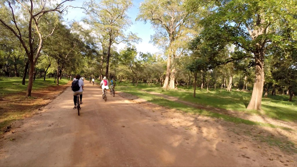 Polonnaruwa, Sri Lanka - Bicyclists