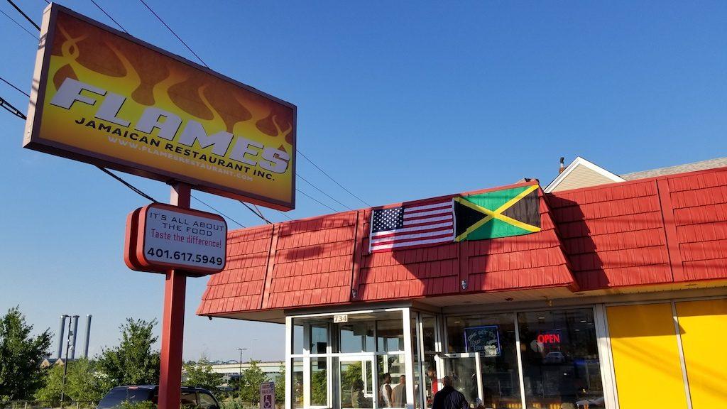 Providence, Rhode Island USA - Flames Restaurant