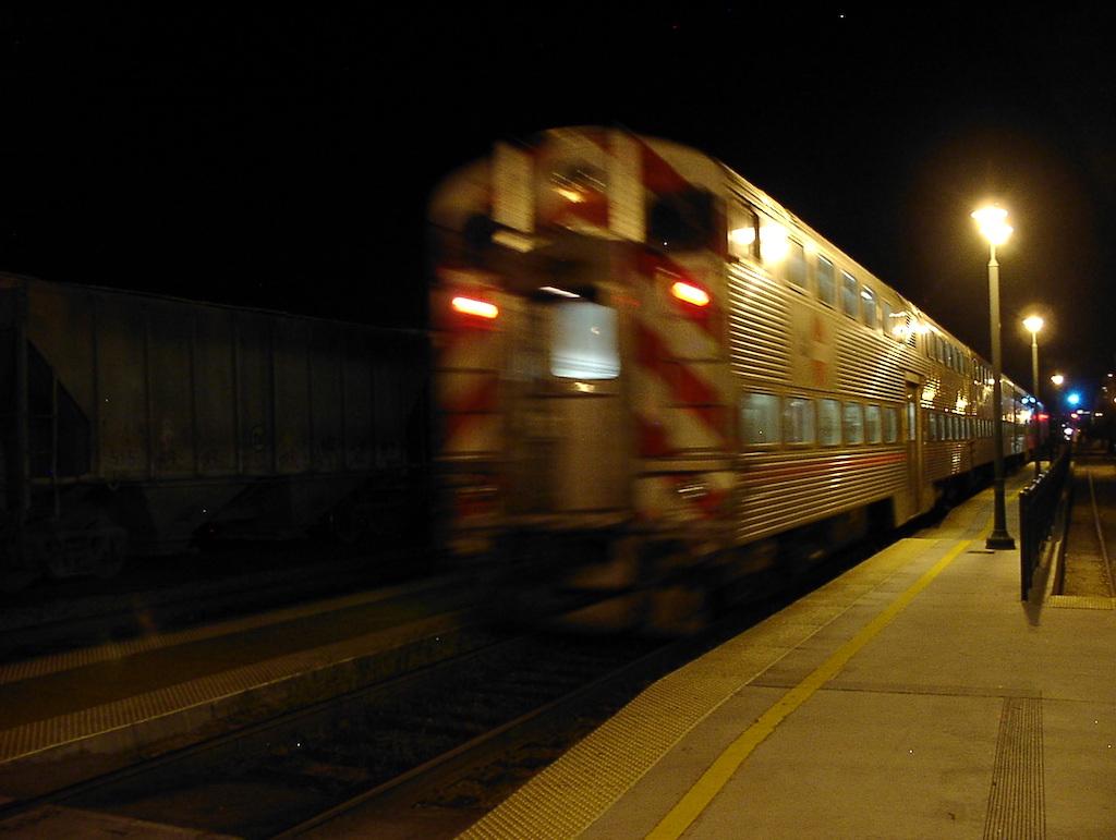 Santa Clara, California USA - Caltrain Santa Clara Train Station