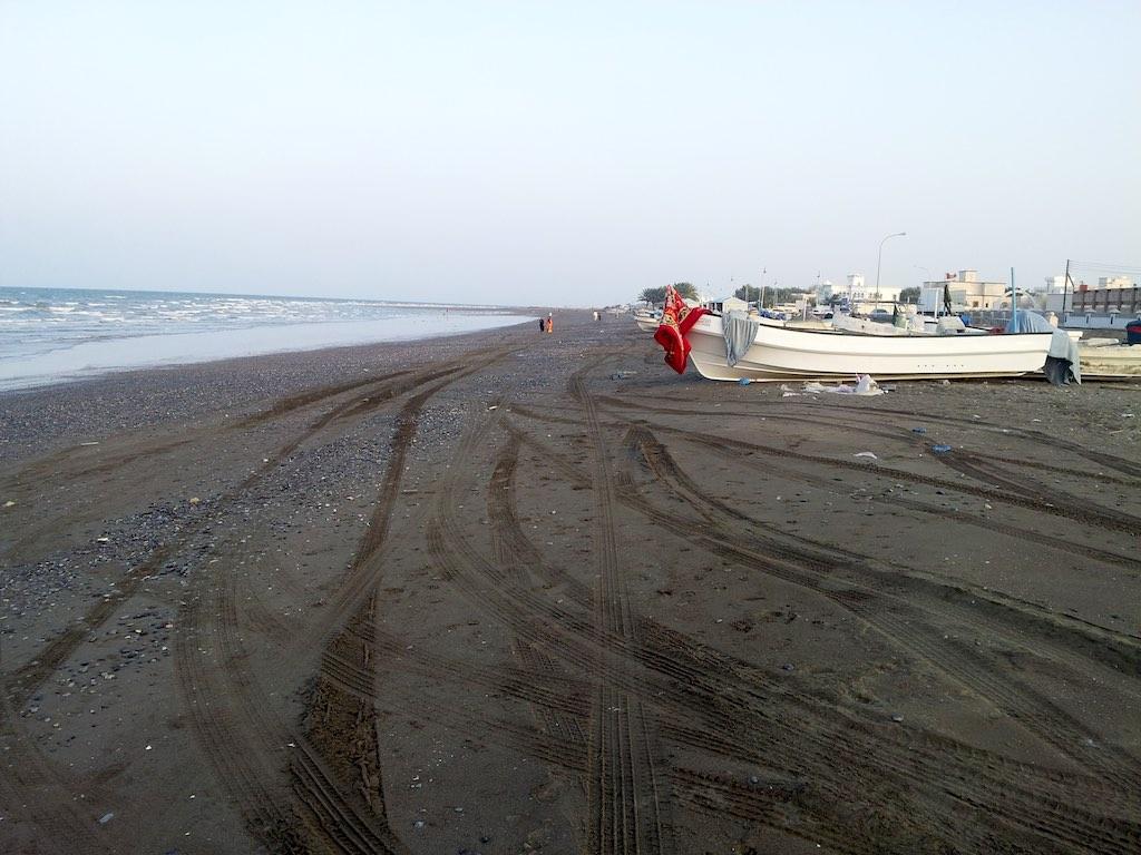Seeb, Oman - Seeb Beach and fishing Boats
