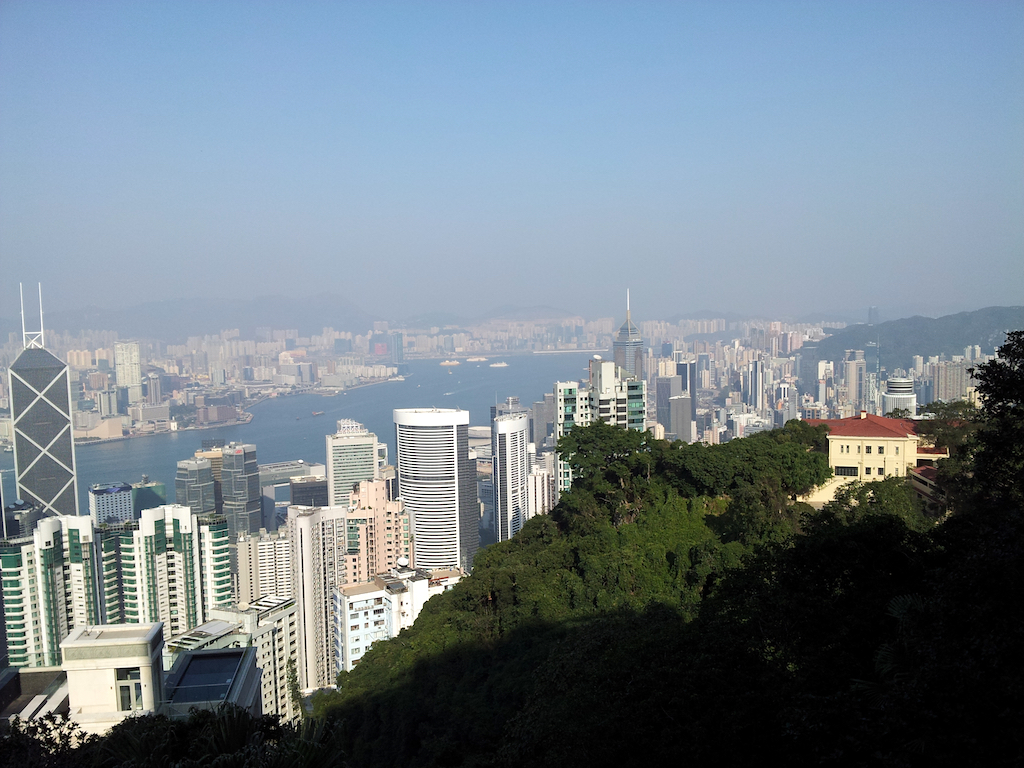 The Trail to the Peak, Hong Kong - View from The Trail