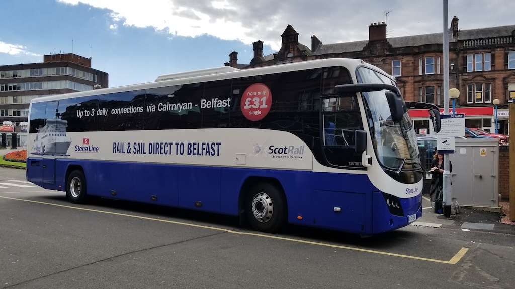 Ayr, Scotland, United Kingdom - ScotRail Bus to Cairnryan