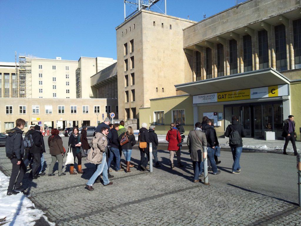 Berlin-Tempelhof Airport, Berlin, Germany - Tour Entrance