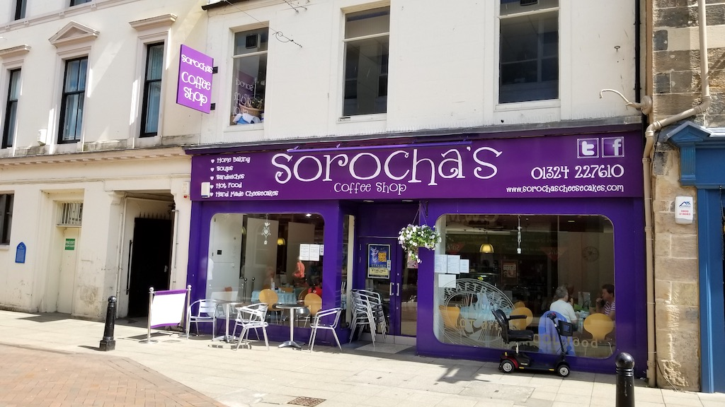 Falkirk, Scotland United Kingdom - Sorochas Coffee shop