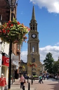 Falkirk, Scotland United Kingdom - Town Clock