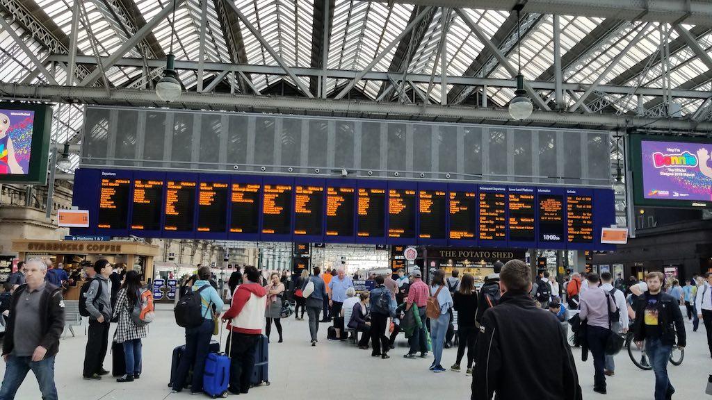Glasgow, Scotland - Central Train Station