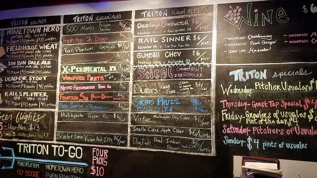 Indianapolis, Indiana USA - Beer choices in Broad Ripple