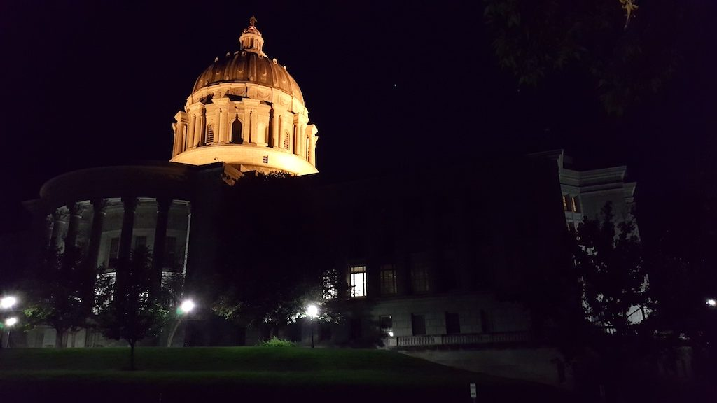 Jefferson City, Missouri USA - State Capitol Dome Night