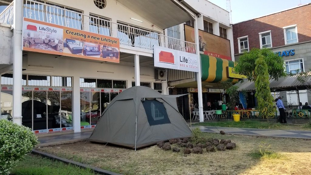 Livingstone, Zambia - Tent Store and Restaurant