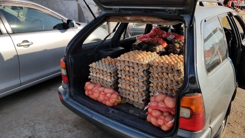 Livingstone, Zambia - Transporting Eggs