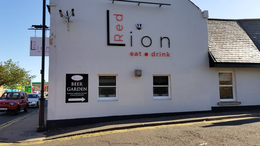 Prestwick, Scotland United Kingdom - red lion eat drink