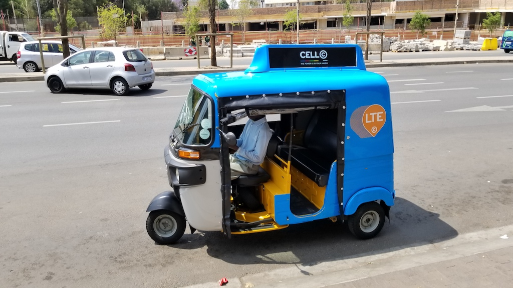 Sandton, Johannesburg, South Africa - Taxi Scooter