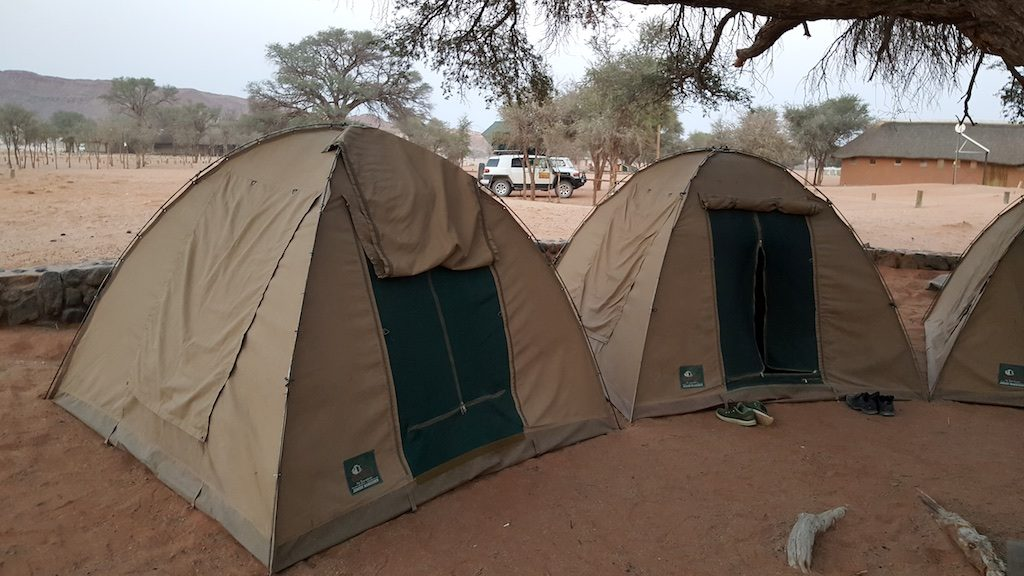 Sesreim Canyon, Sesreim, Namibia - Camping tents