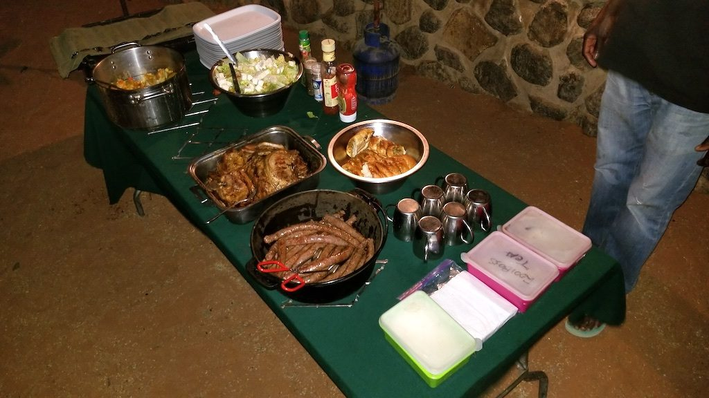 Sesreim Canyon, Sesreim, Namibia - Dinner prepared by our Chef Joseph from Wild Dog Safaris