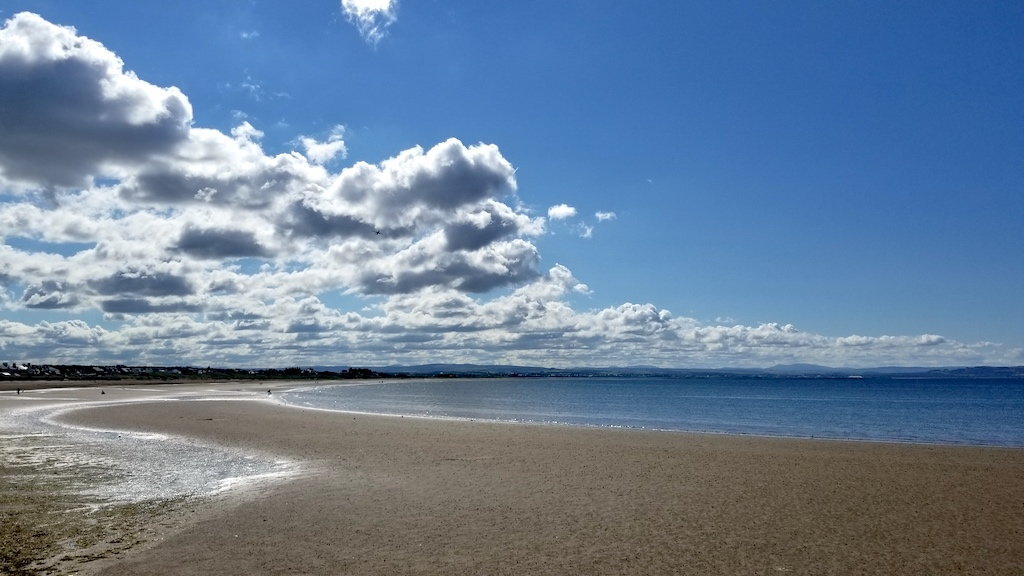 Troon, Scotland United Kingdom - Beach when the Tide is out