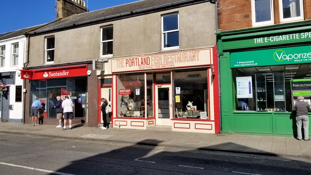 Troon, Scotland United Kingdom -The Portland Fish Restaurant