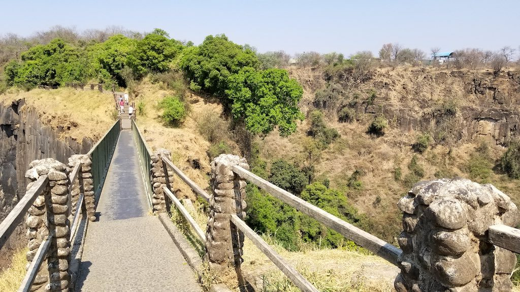 Victoria Falls, Zambia - Knife edge bridge