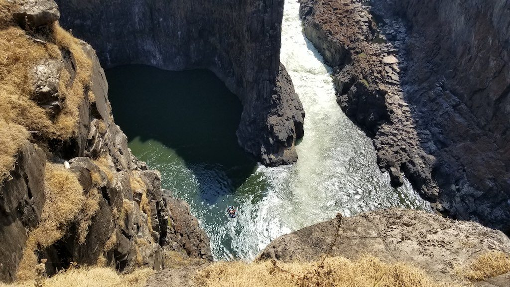 Victoria Falls, Zambia - White water rafters