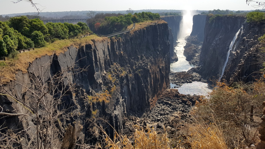 Victoria Falls, Zambia - end of the gorge