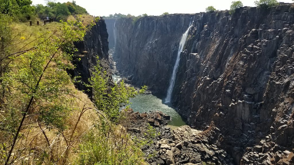 Victoria Falls, Zambia - Dry season at the Falls