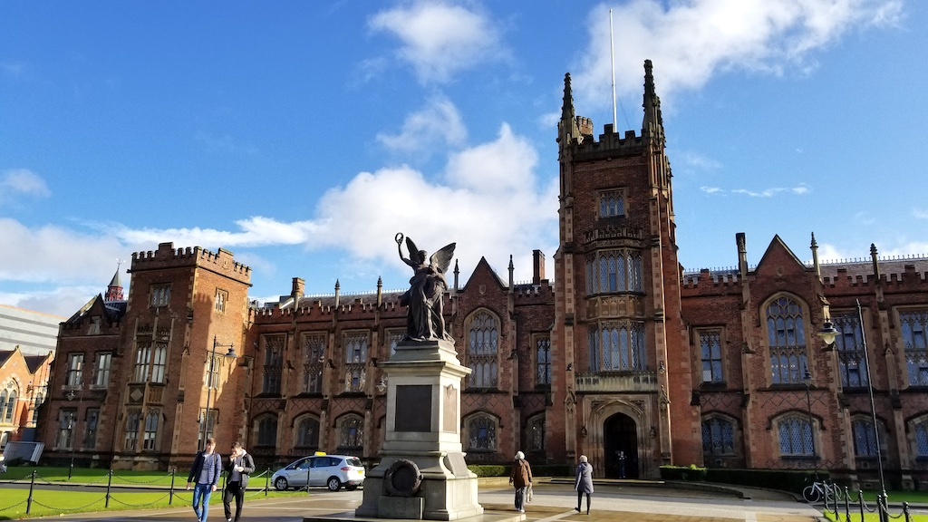 Belfast City, Northern Ireland United Kingdom - Queens University Campus