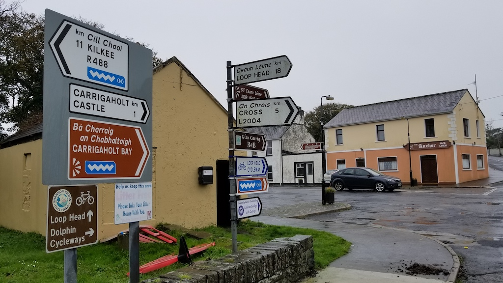 Carrigaholt, Ireland - Signs