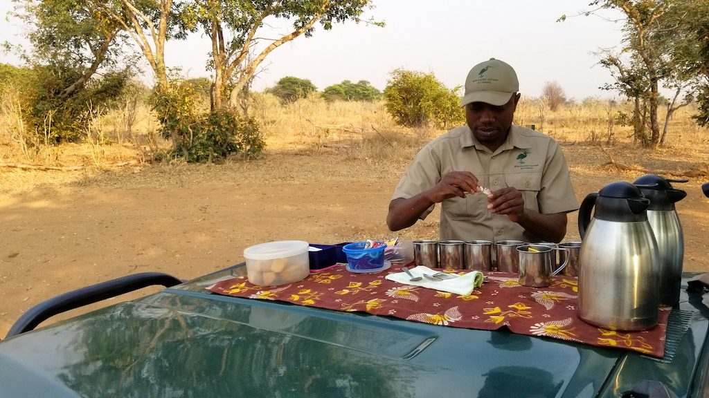 Chobe National Park, Botswana - Tea in the Park prepared by Roy