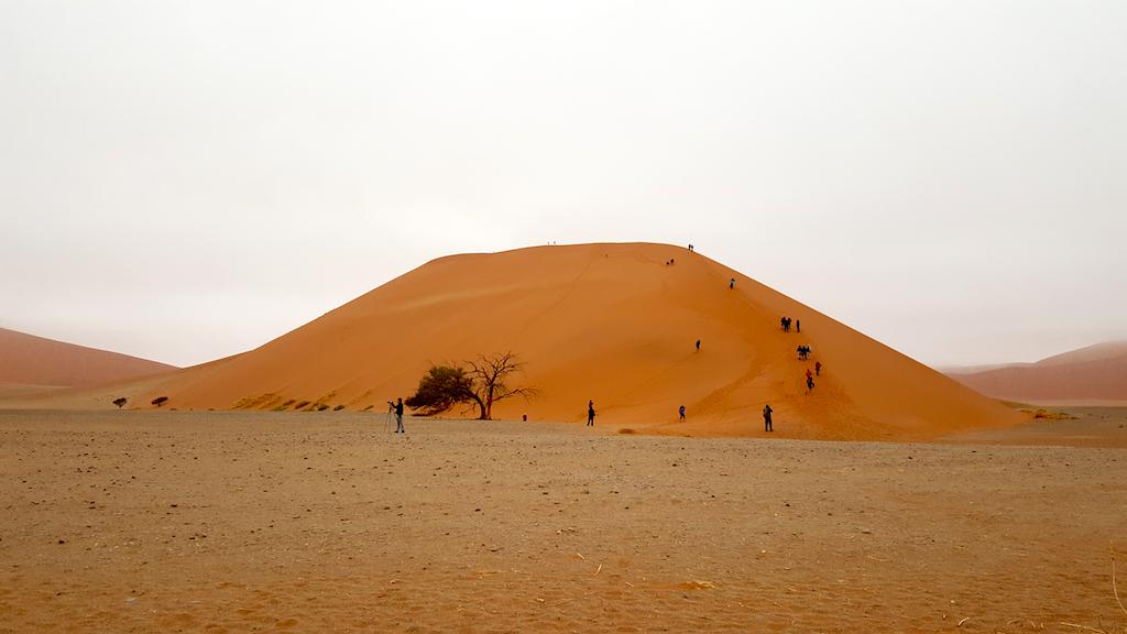 Dune 45, Sossusvlei, Namibia - Ascending the Dune