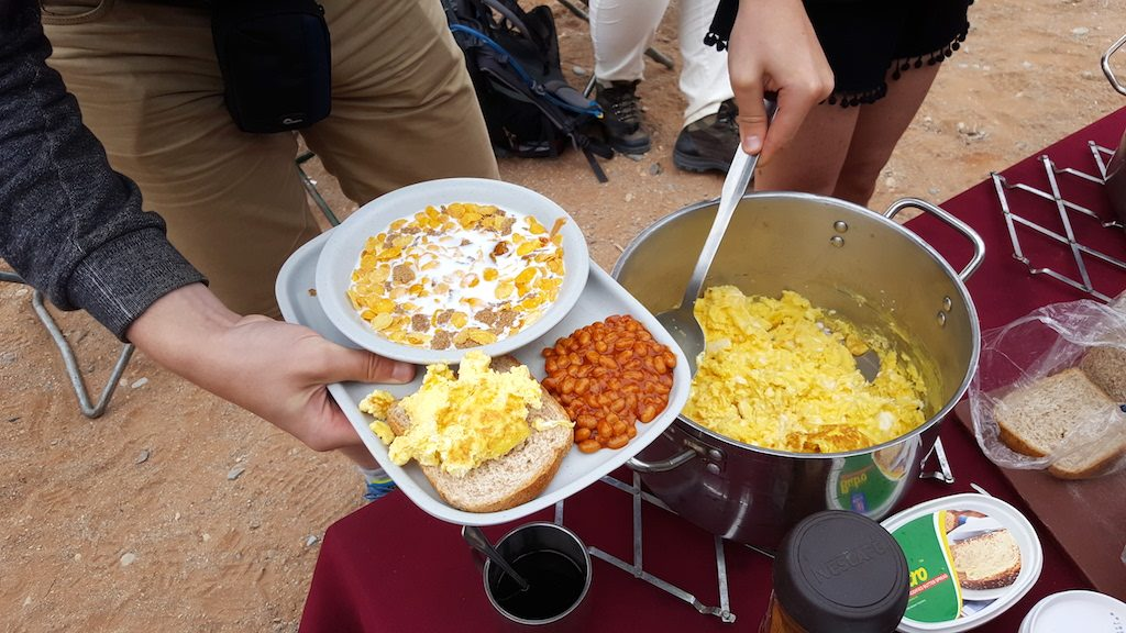 Dune 45, Sossusvlei, Namibia - Breakfast