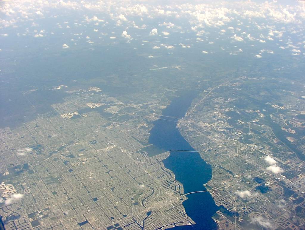 Fort Myers, Florida USA - Aerial view
