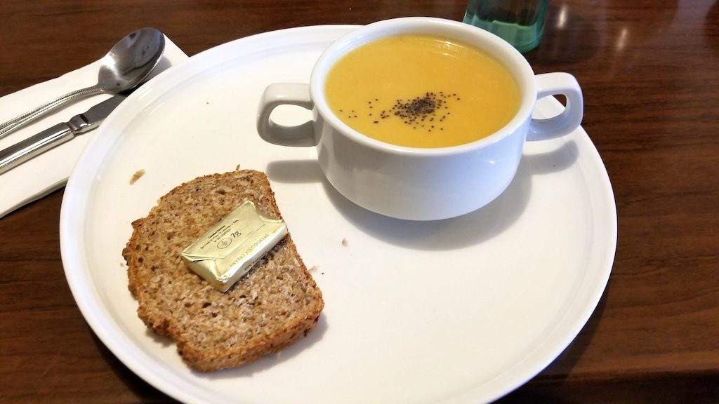 Kenmare, Ireland - Soup at Poffs Restaurant