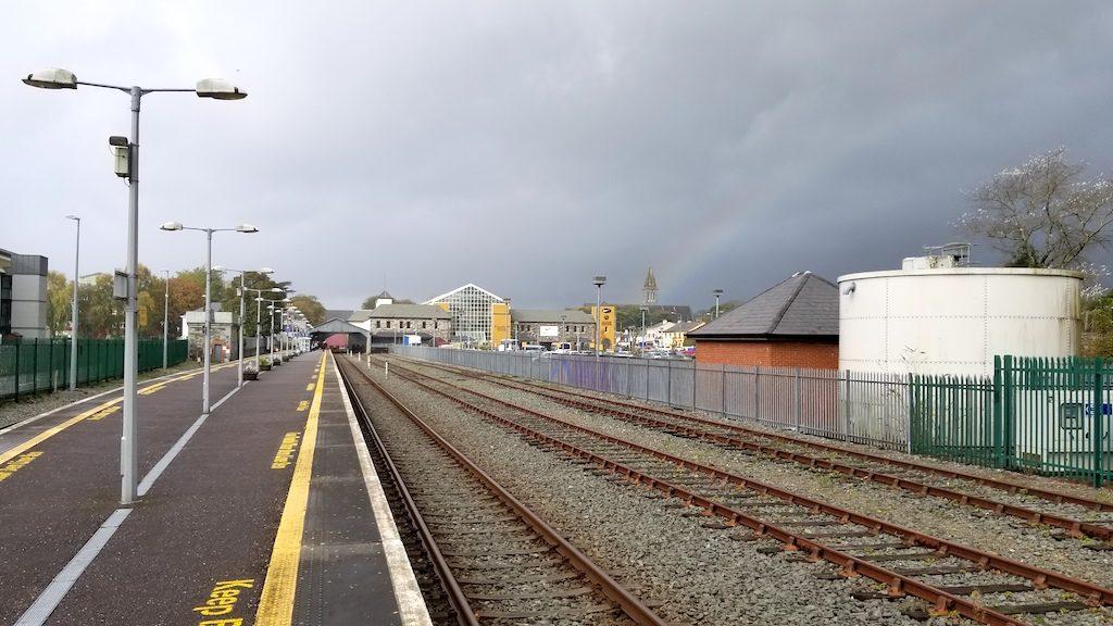 Killarney, Ireland - Killarney Train Station with Rainbow