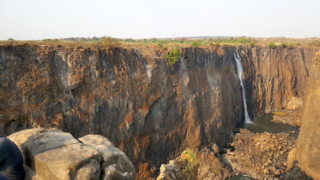 Victoria Falls, Zimbabwe - Dry part of the Victoria Falls