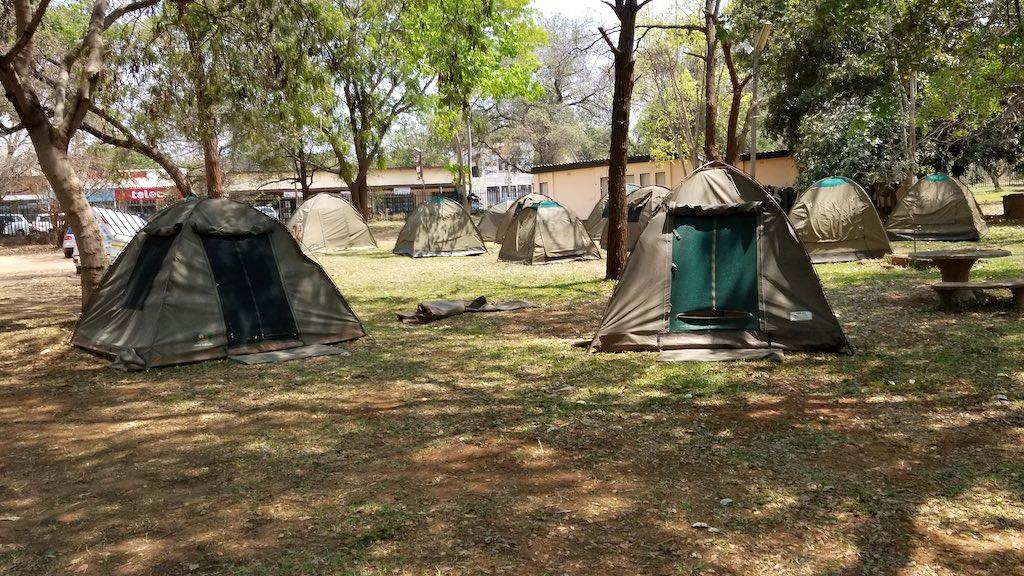 Victoria Falls, Zimbabwe - Campsite with tents