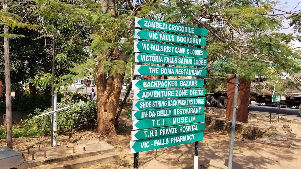 Victoria Falls, Zimbabwe - Signs