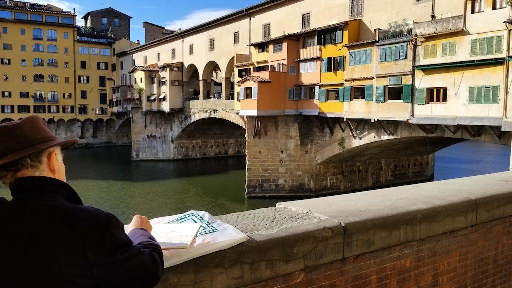 Florence, Italy - Georgio at Ponte Vecchio