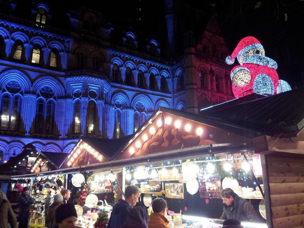 Manchester, United Kingdom - Manchester Christmas Market Albert Square Stall