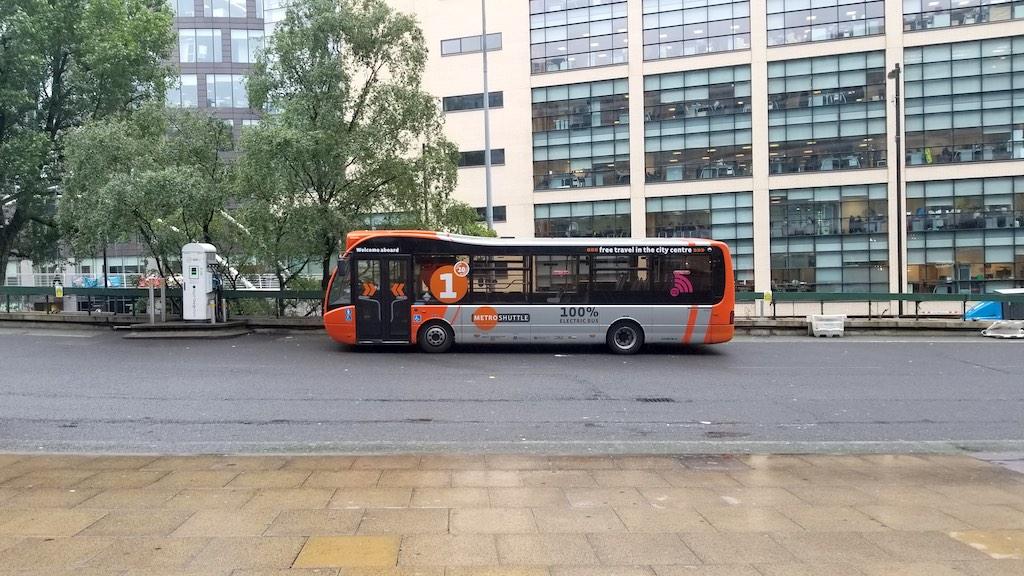 Manchester, United Kingdom - Manchester Metro Shuttle