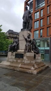 Manchester, United Kingdom - Statues in the Square