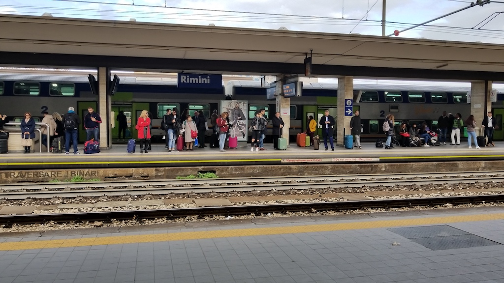 Rimini, Italy - Train station