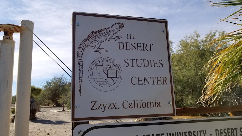 Zzyzx Road, California USA - Desert Studies Center