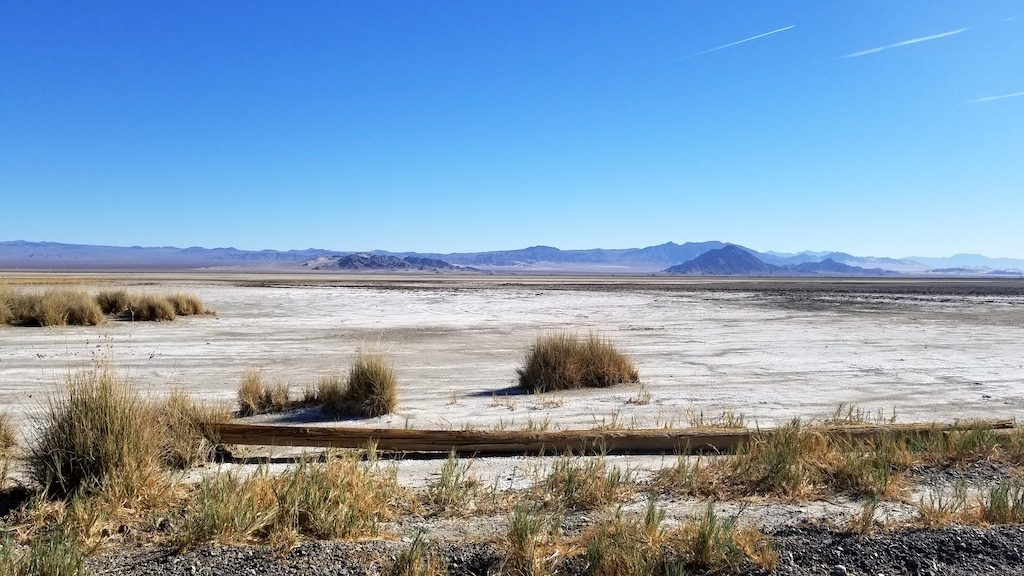 Zzyzx Road, California USA - Desert Studies Center - Dry Lake Bed