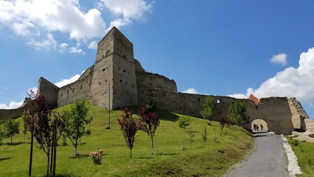 Rupea Fortress, Romania - Fortress from below