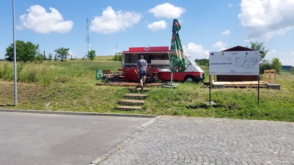 Rupea Fortress, Romania - Food stand